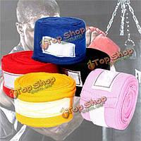 2 рулона хлопка рука оборачивает повязку поддерживает бокс обучение спарринг перчатки митенки