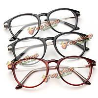 Унисекса ретро свет прочные очки для чтения очки кадров прозрачные линзы очки очки