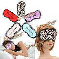 Кружева оттенка мягкой спальный маска для глаз путешествия атласа с завязанными глазами снотворное