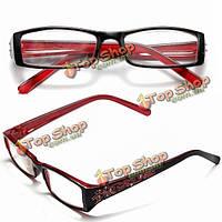 Красный женский алмазный цветок кадр дальнозоркостью очки для чтения очки 1.0 1.5 2.0 2.5 3.0 3.5 4.0