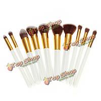 10шт белую основу инструменты для макияжа косметические кисти набор комплект