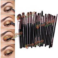 20шт макияж кисти комплект порошка тени для век карандаш для глаз губ косметическая кисть