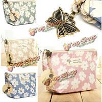 Путешествия цветочный макияж мешок цветок держатель косметического продукта организатор сумка