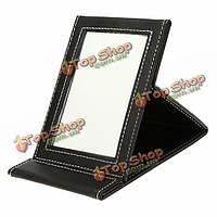 Складной кожаный компактный макияж зеркало рабочего стола
