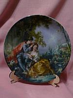 """Декоративная фарфоровая настенная тарелка """"Влюбленная пара"""" 19 сантиметров диаметр"""