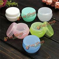 6 цветов пустой макияж косметический крем лосьон бутылка контейнер путешествия упаковочные средства банку кейс горшок