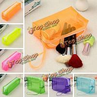 6 цветов большой емкости пластиковый прозрачный косметический макияж сумка чехол на Lightning аккуратный организатор