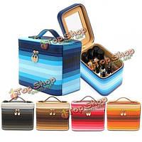 Водонепроницаемый изменение цвета косметический макияж инструмент кейс для хранения организатор держатель коробки