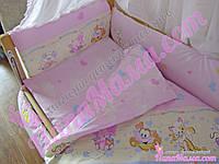 Постельное белье в детскую кроватку Bepino Улыбка+Держатель