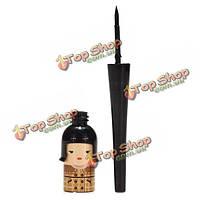 Японская кукла черная водонепроницаемая жидкая косметика геля карандаша для глаз