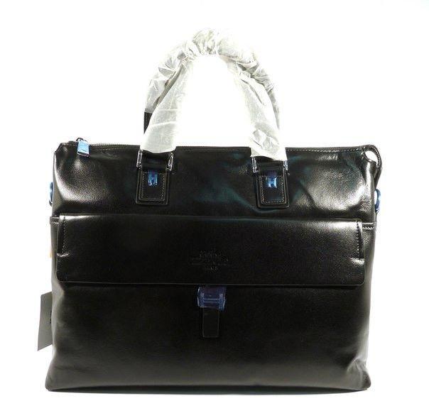 Портфель кожаный мужской черный 6951-1