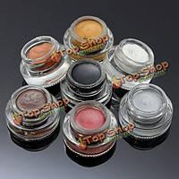 7 цветов водостойкого макияжа глаз тени подводка для глаз гель