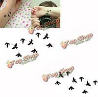 Птица шаблон дизайна временного переноса воды стикер татуировки