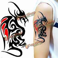Этикетки татуировки дракона водонепроницаемые временные сексуальные женщины - мужчины татуировок ноги руки