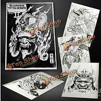 100 японском стиле дракона дизайн-наброски рукописи эскиз татуировки книга А4