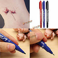 3-х цветов переноса татуировки пера Двухсторонние кожи маркер пирсинг маркировки ручки