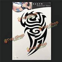 Тотем Временные татуировки мужчины съемный водонепроницаемый корпус рука нога татуировки наклейки