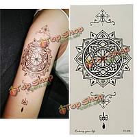 Водонепроницаемые этикетки татуировки временные цветочные татуировки сексуальное делание татуировку фальшивки боди-арта