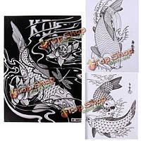 51 страниц разных рыб скелет дизайн татуировки искусство рукописная книга эскиз