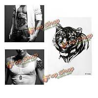 3-я рука мужчин головы тигра водонепроницаемая временная этикетка татуировки боди-арта