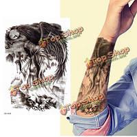 Черные крылья пера водонепроницаемая рука боди-арта временная этикетка татуировки