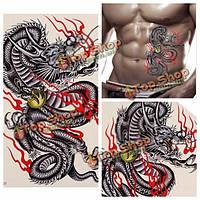 Дракон дизайн водонепроницаемый временные татуировки стикер съемный