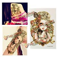 Готическая девушка временную татуировку тела искусство стикер поддельные руки ноги водонепроницаемый съемный