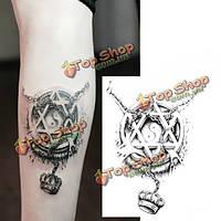3D пяти элементов тотем корону водонепроницаемый рука временные татуировки наклейки боди-арт