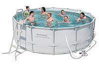Bestway 56444 бассейн каркасныйØ 427 х122 см, фильтр-насос 3028 л/ч, лестница, тент, подстилка, фото 1