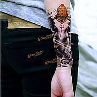 Водонепроницаемый тайский слон рисунок тотема рука назад временную татуировку наклейка деколи
