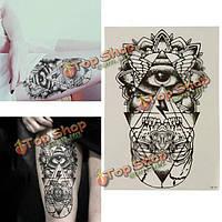 Рисунок глаза нога тело рука дизайн тотем временные татуировки наклейки деколь