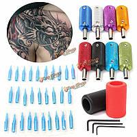 Про сплава резины машина татуировки ручка ручка трубки сопла круглые советы назад набор комплект
