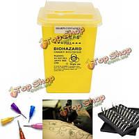 Медицинские татуировки стоматологические месятки игла контейнер для хранения ящик для инфекционных отходов