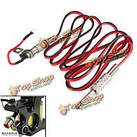 """Татуировки машина кабель RCA гнездо конверсионный комплект красный штекер шнура зажим 1/4"""""""