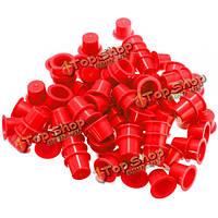 100шт одноразовые пластиковые профессиональные чернила татуировки чашки крышки поставок чашки красного 3 размера