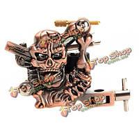 Череп литья татуировки высокая стабильность 7000-9000 об / мин фиолетовый бронза 10 перекосов катушек