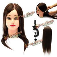 Манекен для причесок женская голова волосы 45 см
