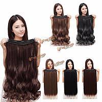 Ленты длинных волос для наращивания прямые/вьющиеся