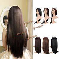 Парик длинных волос без челки синтетический