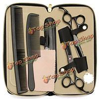 Волос профессиональные парикмахерские резки истончение ножницы Барбер бритву комплект комплект с футляром