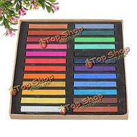 Набор цветных мелков для временного окрашивания волос 24 шт