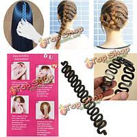 Французский волос плетение инструмент ролик магия волосы поворот стиль