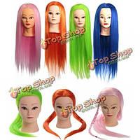 27-дюймов 100 % Kanekalon обучение высокотемпературный волосы манекен салон глава практика
