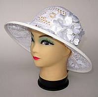 """Шляпа """"Клумба"""" белого цвета"""