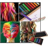 12 цветов нетоксичная временное цвет волос мел квадратный волос мел
