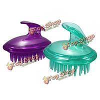 Силиконовый шампунь для кожи головы душем тело мыть волосы массажной щеткой расчесывать