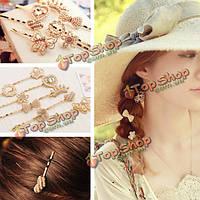 Заколки-шпильки для волос цвет золото