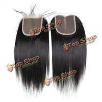 Полупарик-накладка из натуральных черных волос 7а 4x4