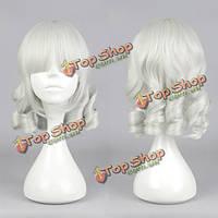 Парик серебристо-белые волнистые волосы
