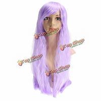 Парик фиолетовый длинные прямые волосы 70см